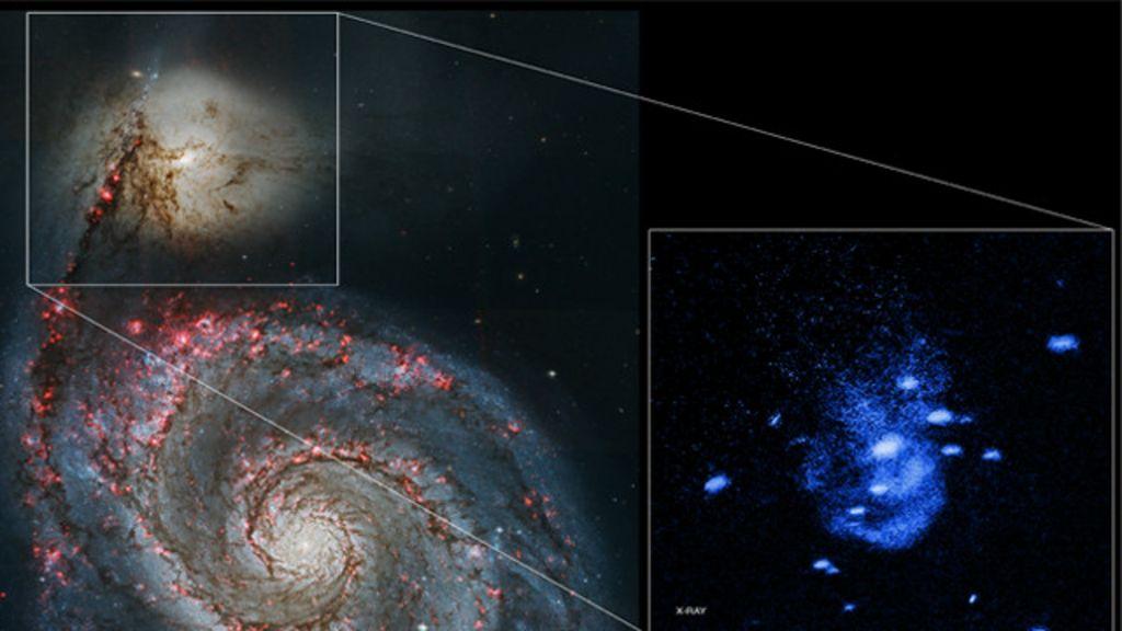 Telescópio da Nasa registra buraco negro 'arrotando' gás - BBC Brasil