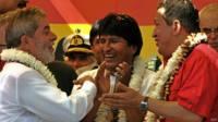 Lula, Morales y Chávez