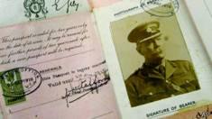 Pasaporte de Sir Arthur Conan Doyle durante la guerra