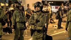 Cảnh sát trên đường phố Hong Kong