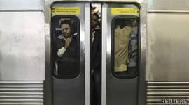 Trem lotado em São Paulo (foto: Reuters)