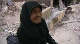 Mujer refugiada palestina en Siria