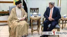 Encuentro entre el secretario de Estado de EE.UU. John Kerry y el principal clérigo chiíta Ammar al-Hakim