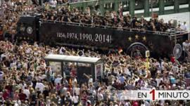 Hinchas celebran la victoria de Alemania