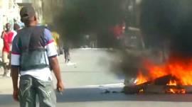 Protestas contra el gobierno en Haití