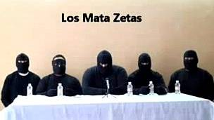 Captura de video del grupo Matazetas. Foto: AFP