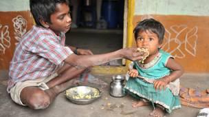 Niños en India