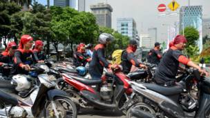 Pendemo di Jakarta