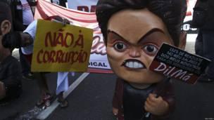 Manifestación de sindicatos en Brasil
