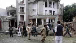 भारतीय वाणिज्य दूतावास पर हमला