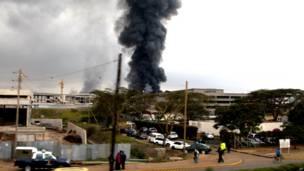 नैरोबी एयरपोर्ट में आग दुर्घटना