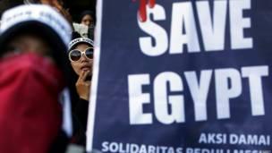 Protesta en Indonesia