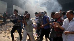 Herido en protesta en Cairo