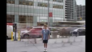 Movimiento en una calle neoyorquina
