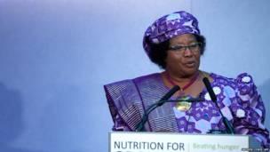 मलावी की राष्ट्रपति जोएस बांदा, समाचार एजेंसी एएफपी