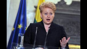 लिथुआनिया की राष्ट्रपति डालिया ग्रीबाउस्काएते, समाचार एजेंसी एएफपी