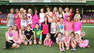 ऑस्ट्रेलियाई क्रिकेट टीम परिवार के साथ