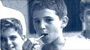 Fotografía de infancia de Fidel Castro