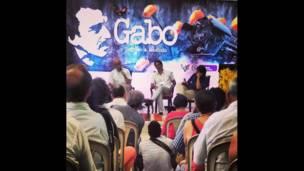 """Panorámica del conversatorio """"Gabo, regreso a Macondo"""" en Aracataca, Colombia."""