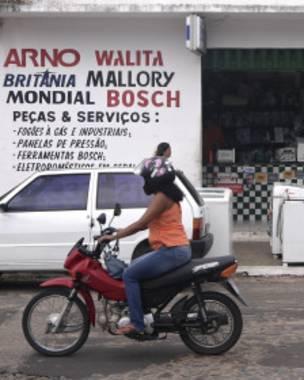 loja de eletrodomésticos em Parnaíba, Piauí    Foto Lily Green