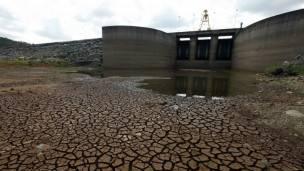 Sequía en la represa de Cantareira, estado de Sao Paulo