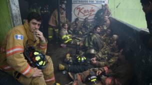 Incendio en mercado de Ciudad de Guatemala. Foto AP.