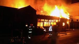 Incendio en Iquique