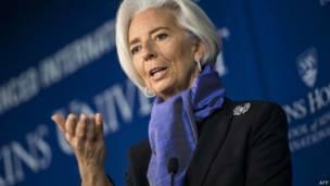 AFP Глава МВФ Кристин Лагард: конфликт на востоке вызывает спад экономики Украины
