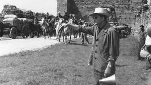 Лукино Висконти на съемках фильма