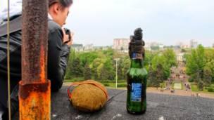 На крыше Дома профсоюзов в Одессе
