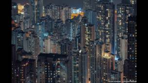 Bloques de apartamentos en una de las áreas residencials más caras de Hong Kong