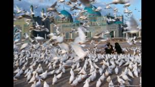 Mezquita Azul, Mazar-e Sharif, 1992. Steve McCurry/Magnum Photos