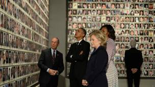 Michael Bloomberg, Barack y Michelle Obama, Hillary y Bill Clinton