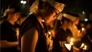 Hong Kong recordó el aniversario de Tiananmen