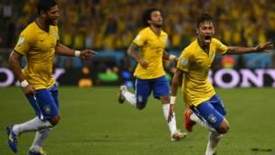 Oscar, Neymar, Fred