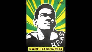 Estarcido de Garrincha de Eduardo Denne. (Foto: Ed Sartori)