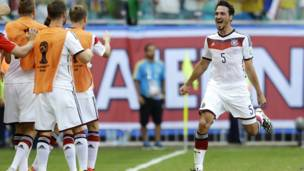फ़ुटबॉल विश्व कप 2014 में जर्मनी और पुर्तगाल का मैच