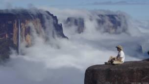 Paisaje nublado en los tepuyes