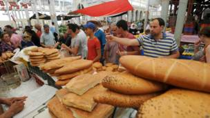 Menunggu buka puasa di Tunis
