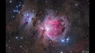 La nebulosa de Orión. Foto: Anna Morris.