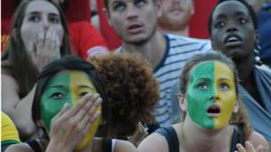 निराश ब्राज़ील फ़ैन्स