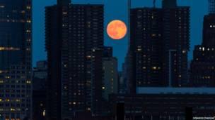 """Superluna"" sobre Manhattan, Nueva York, EE.UU. Debashis Pradhan"