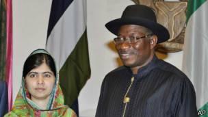 Malala y el presidente de Nigeria