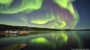 La aurora borealis atraviesa el firmamento. O Chul Kwon/Caters News Agency