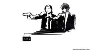 John Travolta y Samuel L. Jackson en Pulp Fiction