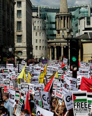 Protesta en Londres, Inglaterra