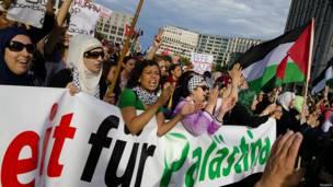 Protesta en Berlín, Alemania