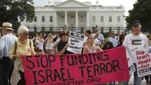 Protesta en Washington, EE.UU.