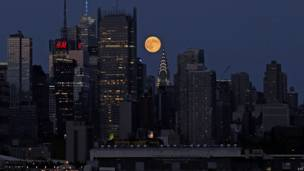 La superluna en Nueva York