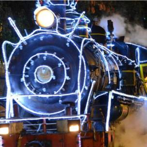 Tren decorado